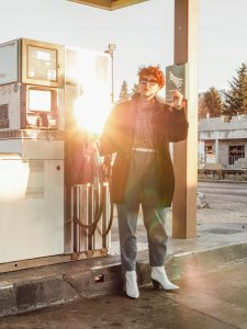 shooting a la station service - gas station photoshoot
