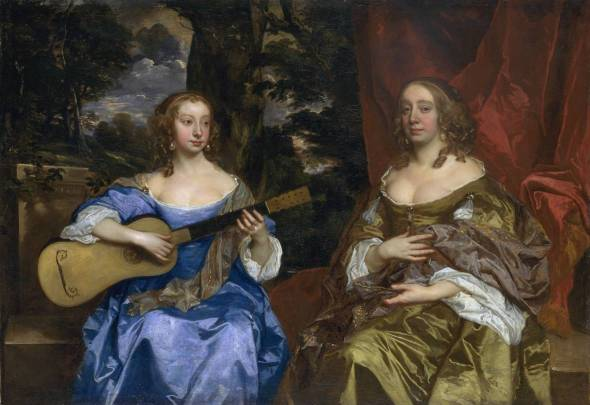 Two Ladies of the Lake Family circa 1660 Sir Peter Lely 1618-1680 Purchased with assistance from the Art Fund 1955 http://www.tate.org.uk/art/work/T00058