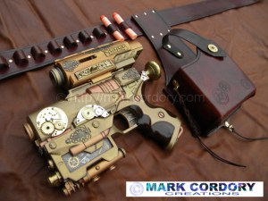 Steampunk pistol & Holster