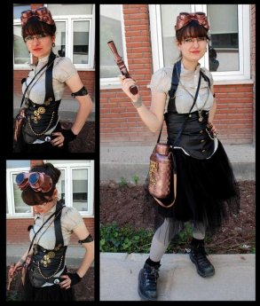 Steampunk Girl Collage