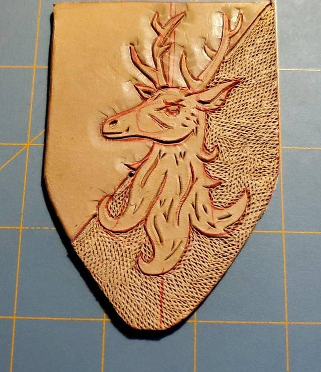 Deer Leather Badge Unpainted