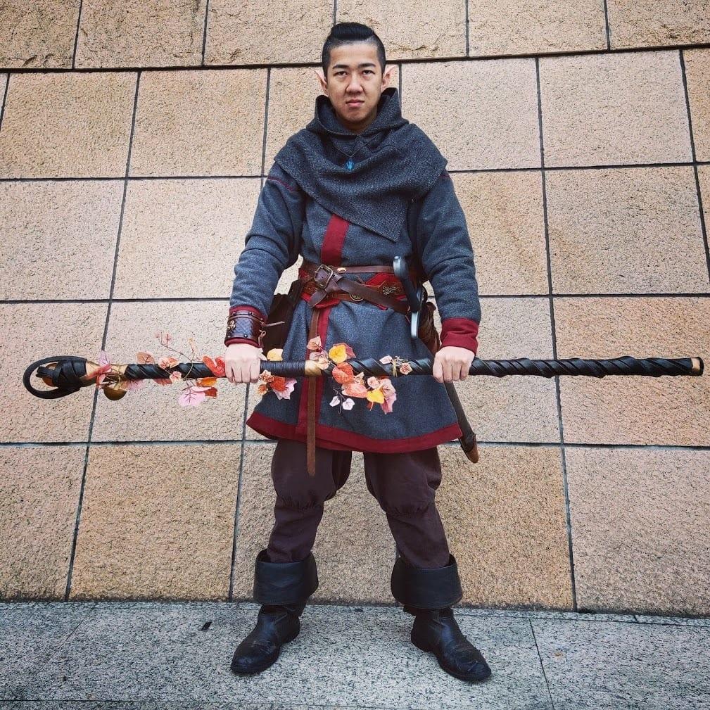 Elf Warrior With Staff