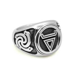 Перстень Велеса с символом Змеевик и Печать