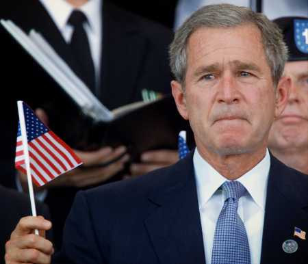 bush-with-flag