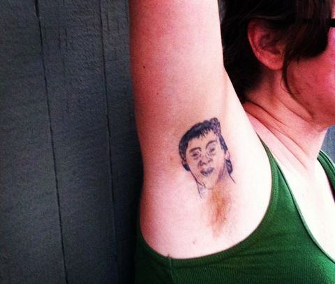 luc robitaille armpit hair tattoo larry brown sports