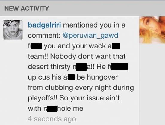 Rihanna JR Smith Instagram