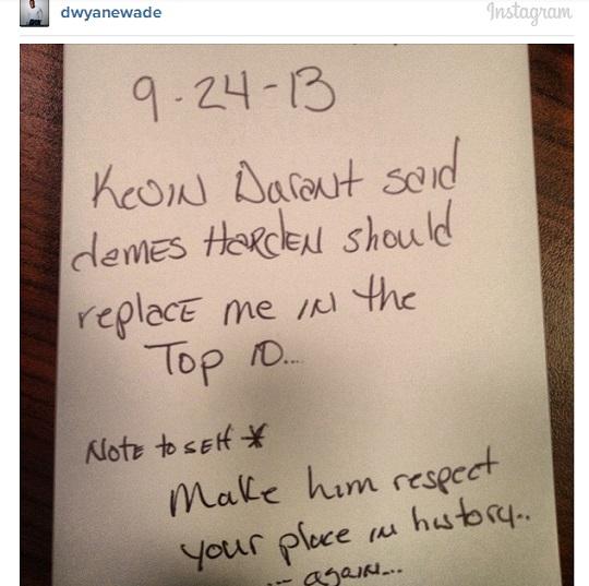 Dwyane Wade Kevin Durant Instagram