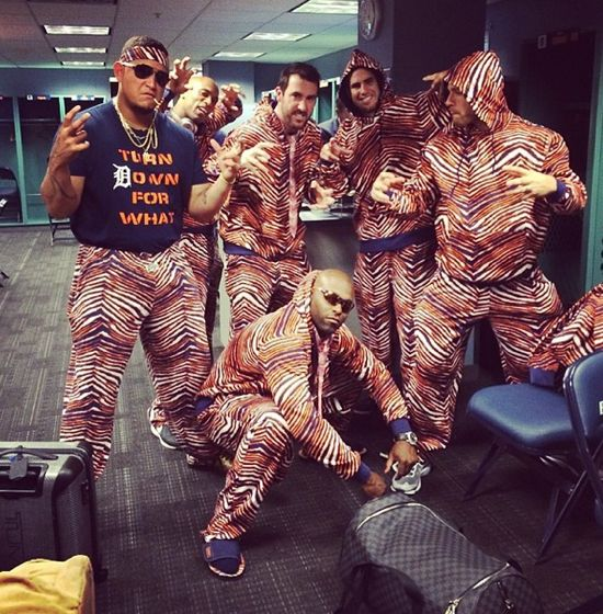 Tigers Get Stuck In Boston Wearing Zubaz Outfits Larry