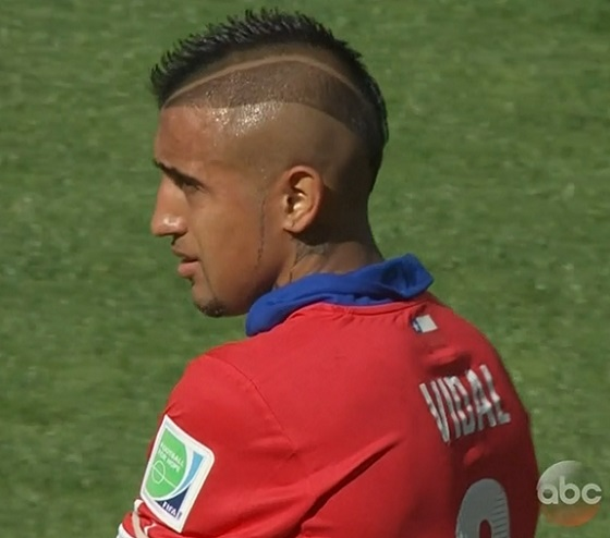Arturo Vidals Haircut In Full Form At World Cup Larry