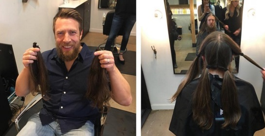 Daniel Bryan Cut Off His Long Hair For Charity Larry