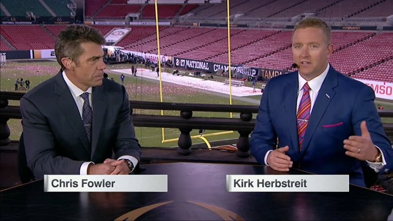 Report: Chris Fowler and Kirk Herbstreit would do Saturday NFL games for  ESPN