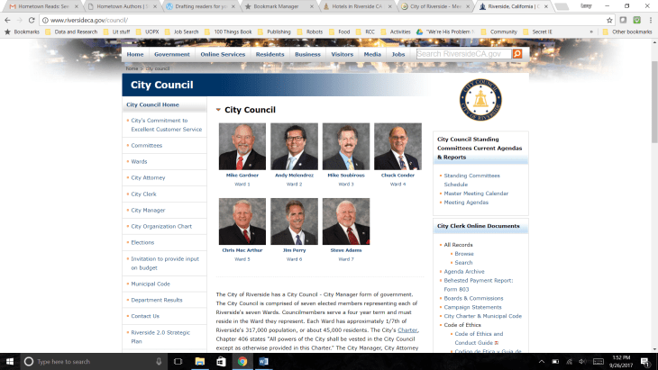 riverside city council list
