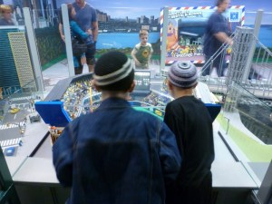 Two friends at Legoland Discovery Center