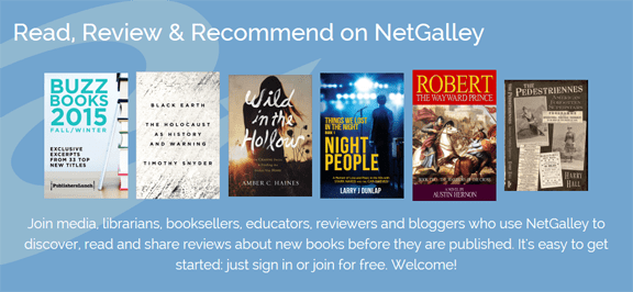 NetGalley features NIGHT PEOPLE on its Home Page.