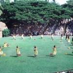 Hawaiian dancers at Kapiolani Park in Honolulu