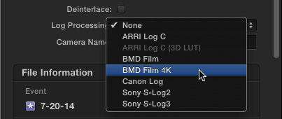 Log c to Rec 709 in FCPX