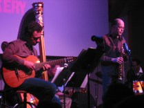photo of Larry Koonse and Bob Sheppard Onstage
