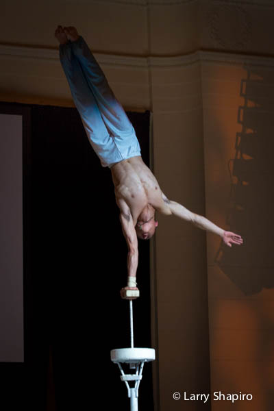 Chinese acrobat performing
