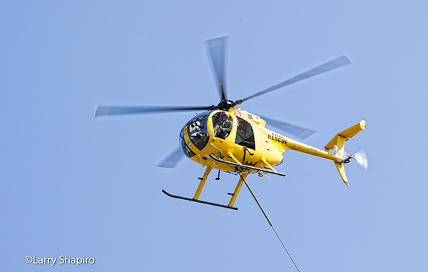 Hughes 369D MD500 helicopter
