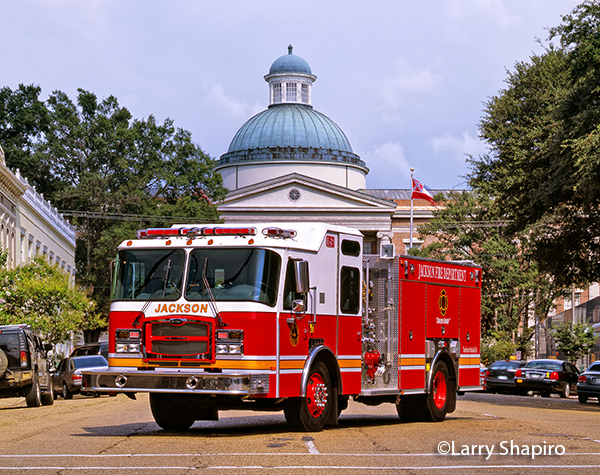 Jackson fire engine with the state capital