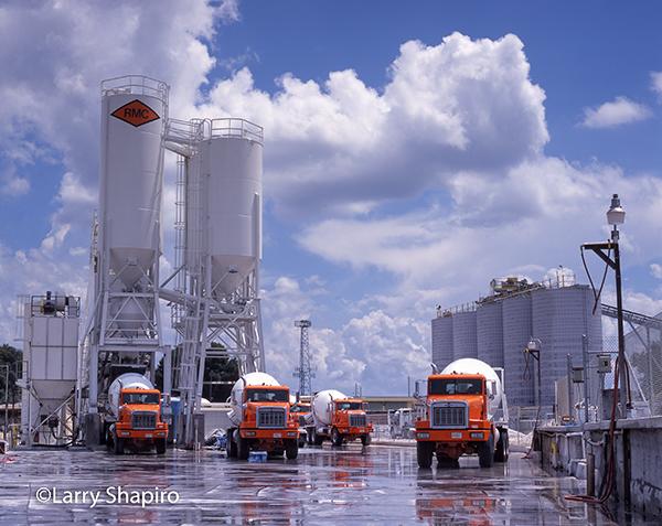 concrete plans with Oshkosh trucks