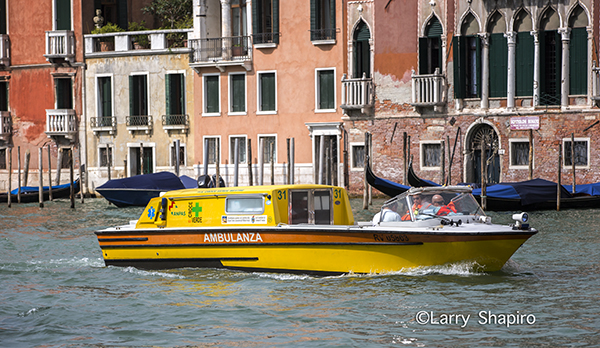 ambulance boat in Venice