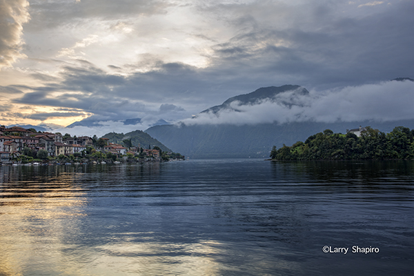 sunrise over Lake Como Italy
