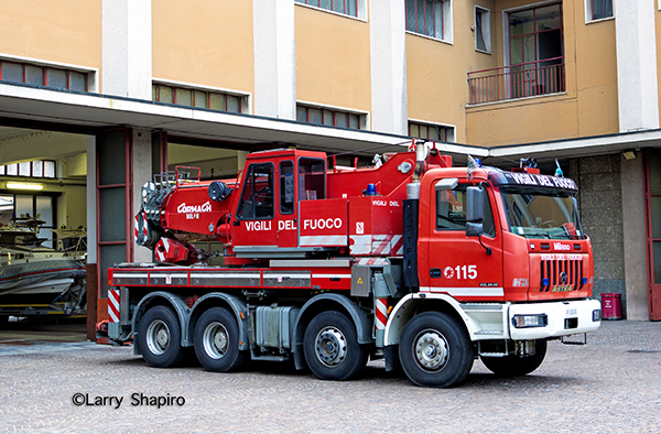 large crane for the Vigili Del Fuoco