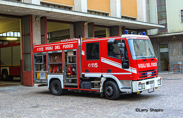 Italian fire service fire engine