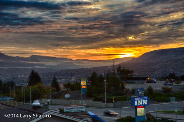 sunrise in Kamloops BC