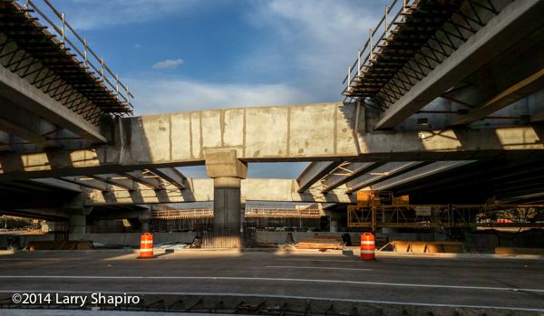 bridge construction in Dallas