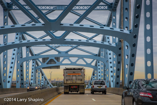 steel bridge on Interstate 95
