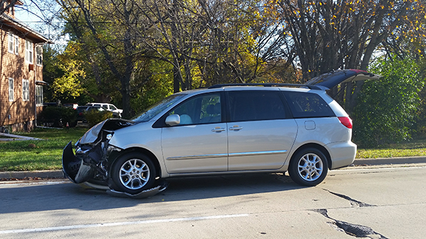 front end crash Toyota Sienna