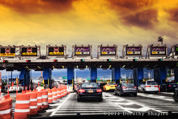 EZ-Pass lanes on a NY highway