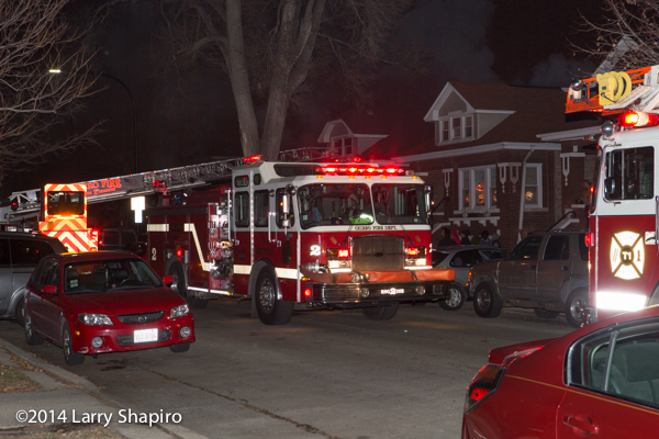 E-ONE fire truck at night fire scene