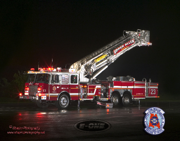 Upper Allen Township FD Tower 33 at night