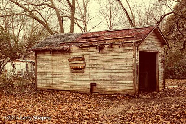old decaying garage still-life