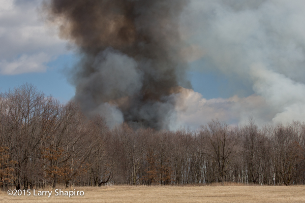 thick smoke from a prescribed burn