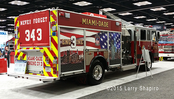 fire engine with mural to remember 9/11