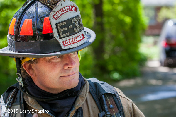 closeup of a firefighter