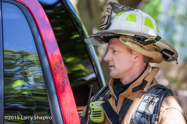 fire chief at fire scene