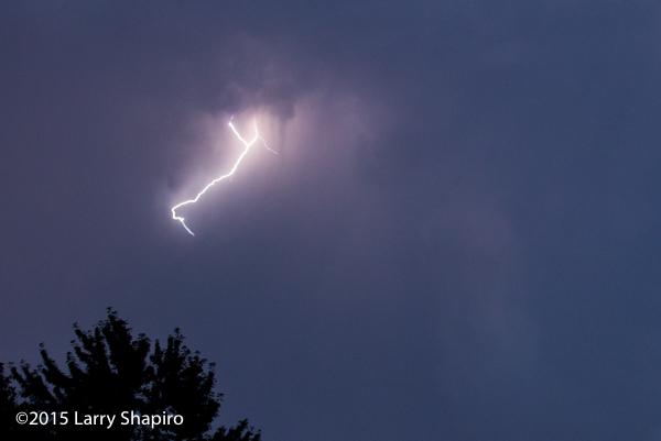 photo of a lightning bolt