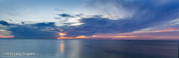 panorama of a sunrise over the Atlantic Ocean