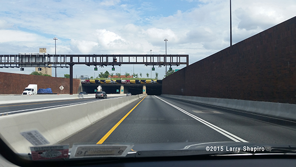 driving through the Fort McHenry Tunnel in Baltimre