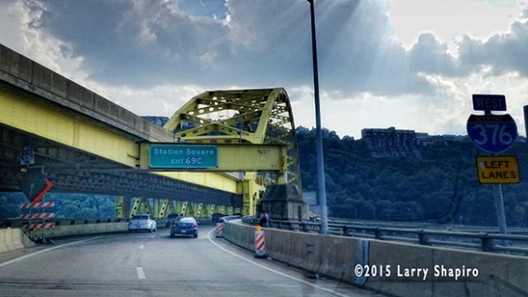 Roadway bridge on Interstate 279 near Pittsburgh
