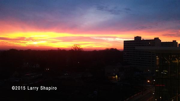 Golden sunrise in Maryland