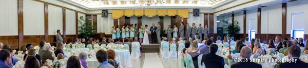 panoramic scene of wedding ceremony