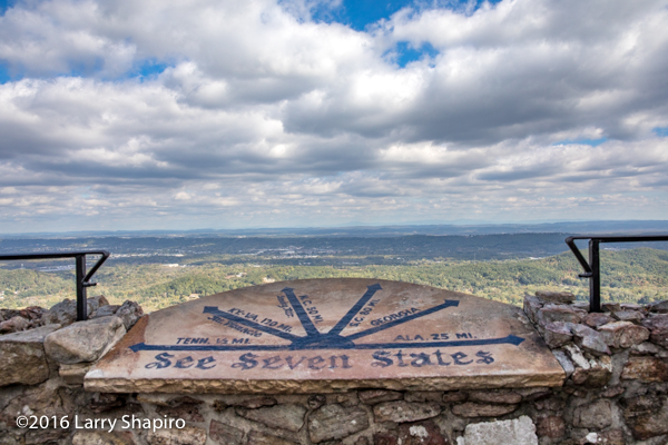 seeing 7 states from Rock City Gardens