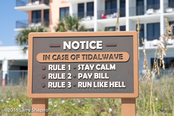 tidal wave precautions along the beach