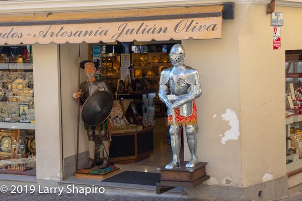 suit of armor in Toledo Spain